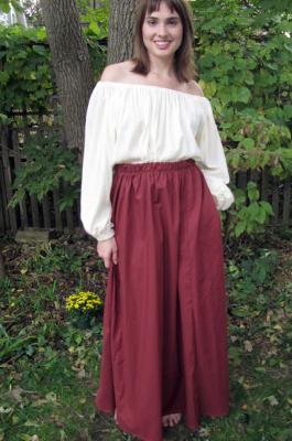 women's gored skirt